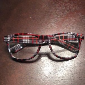 Accessories - NWOT Target Clear Lens Glasses Plaid Nerdy Chic